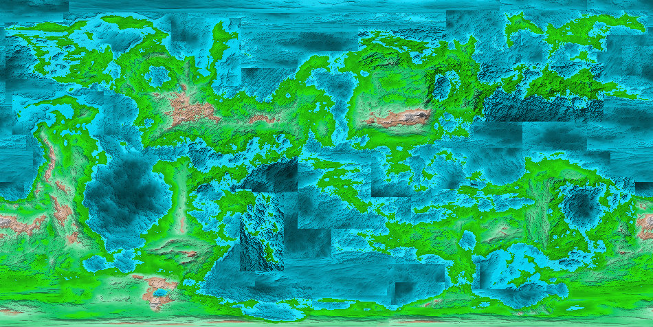 Rough Topography - Mainly still need to fix up the oceans.