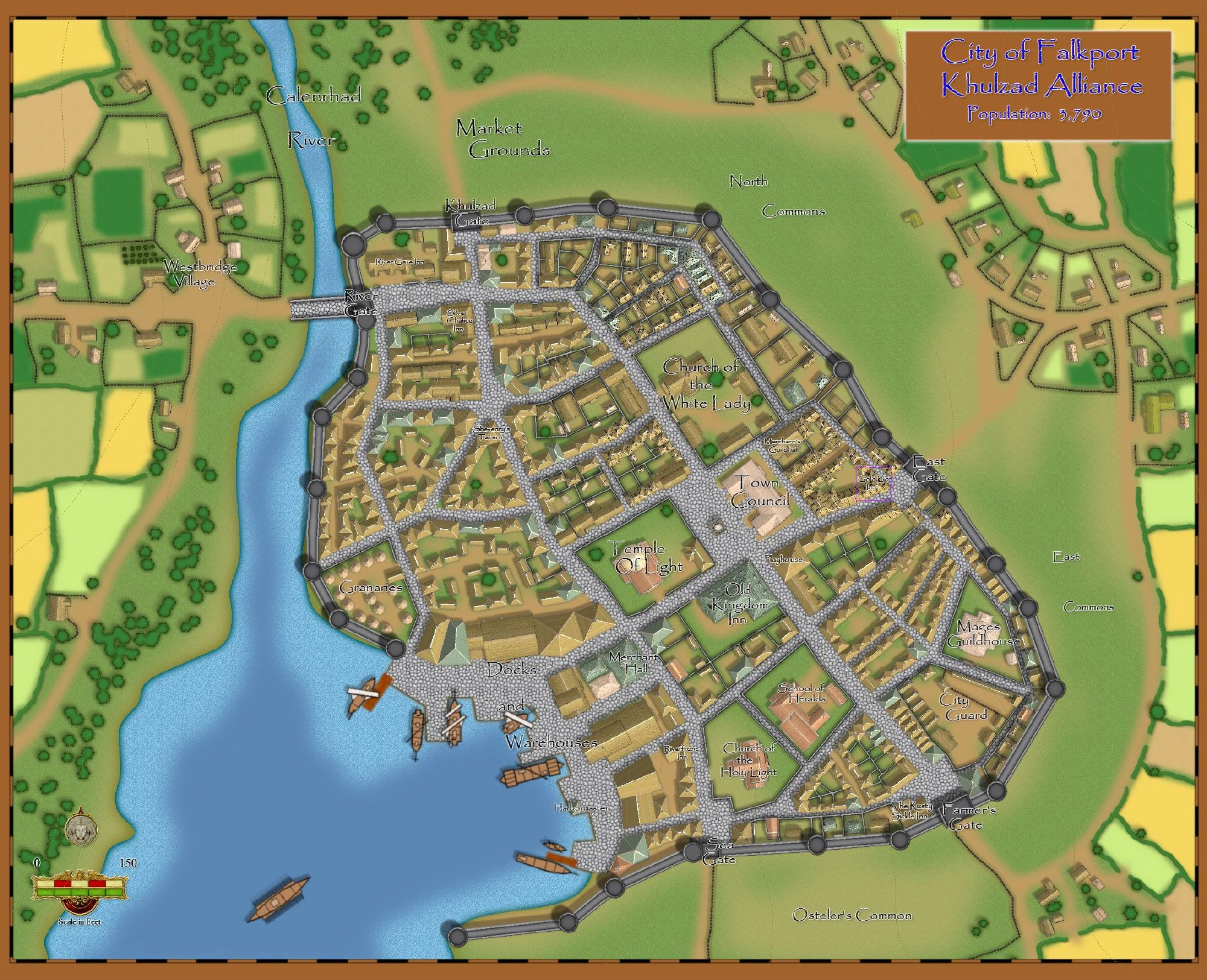 City of Falkport in the Free States.  Part of the Khulzad Alliance.