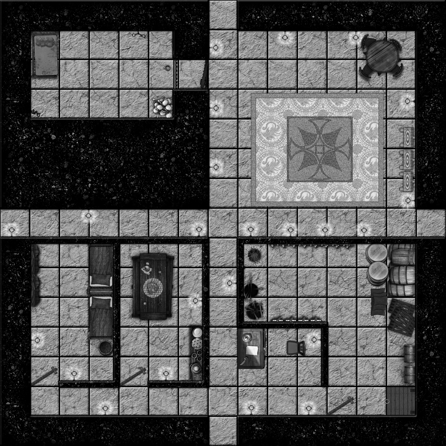 Dungeon map for a Lite Challenge