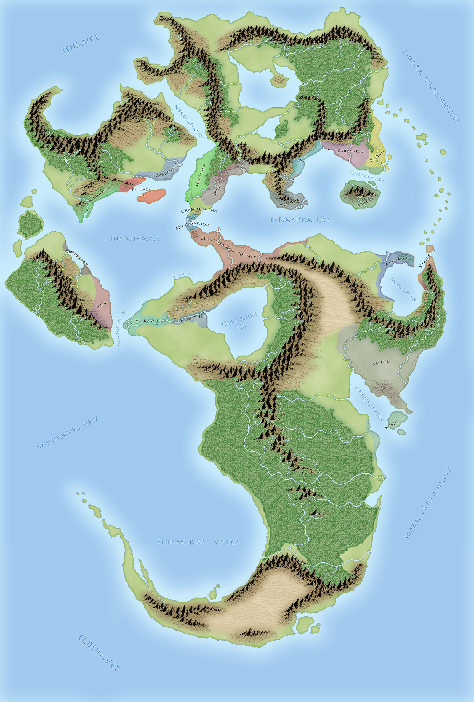 Etrakien - world map (old)