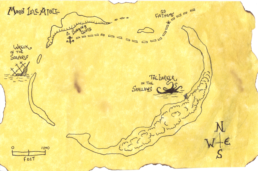 Moon Isle Atoll map handout