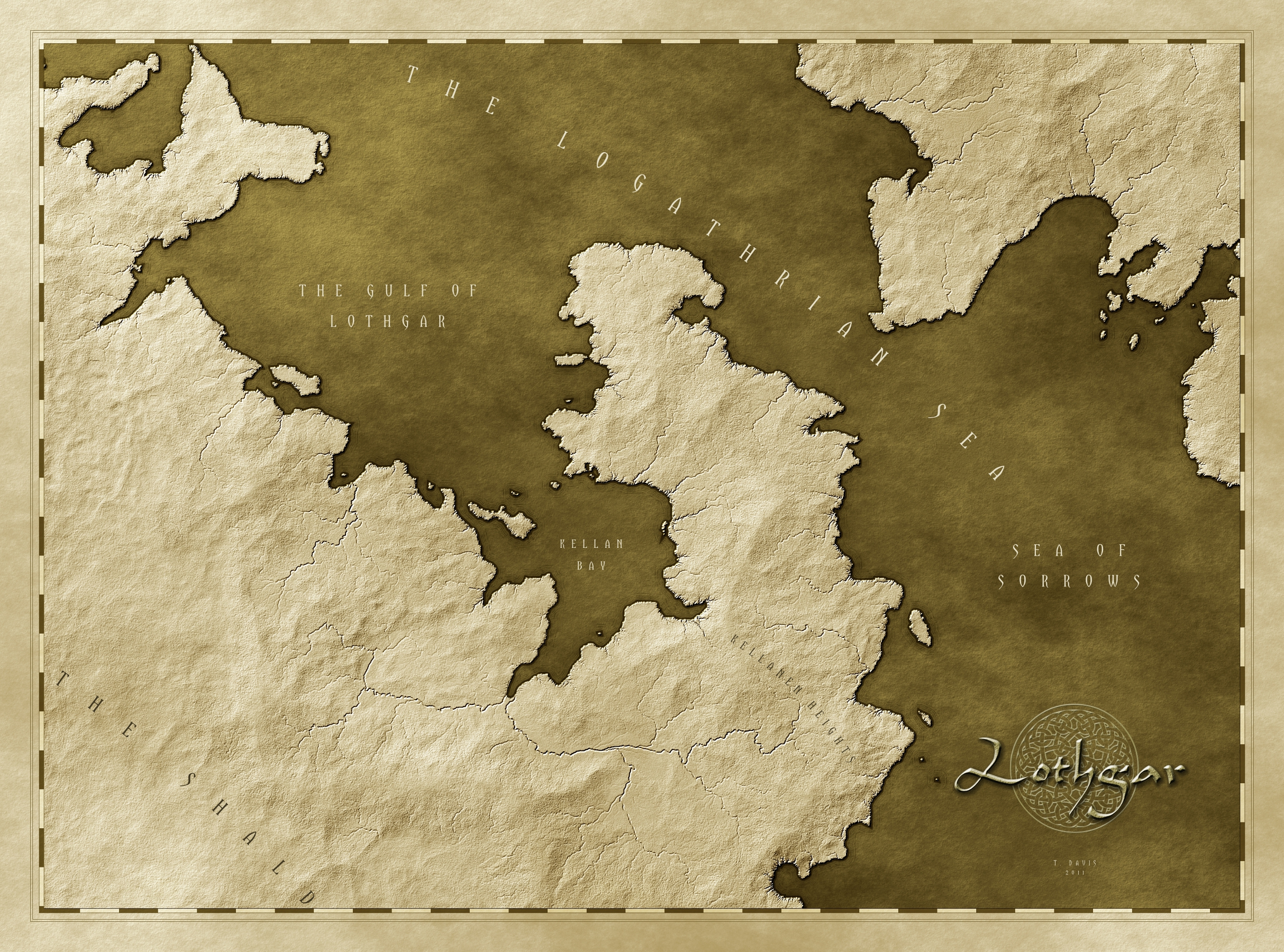 "Here's another version of my Lothgar Map; a sort of homage to a2area's ""Israh"" map."
