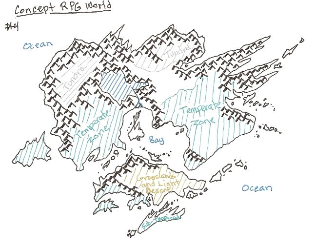 This is the concept map I drew first for the new RPG world I am making.