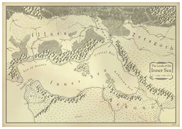 A map commissioned by user GZider for his fantasy stories.