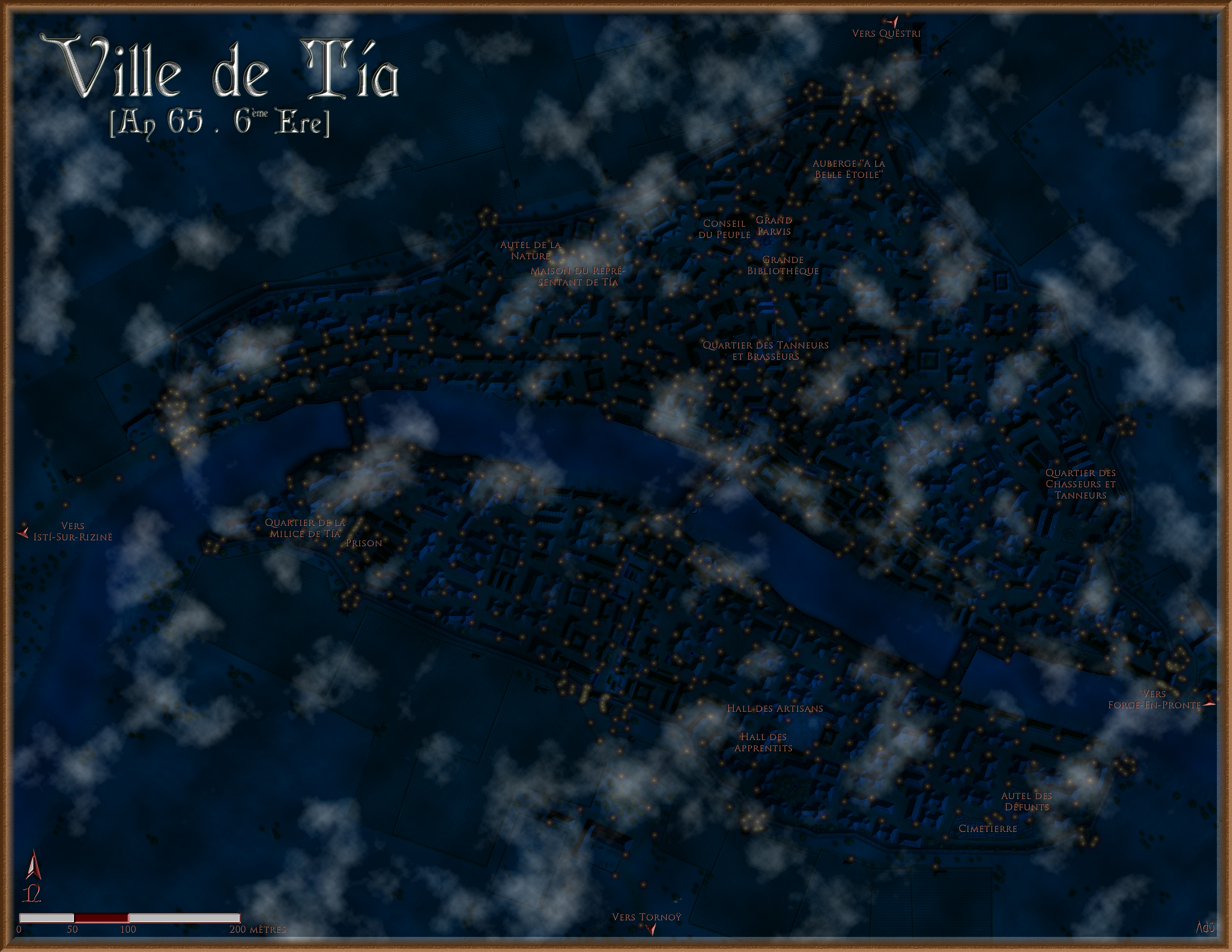 The city of T�a by night
