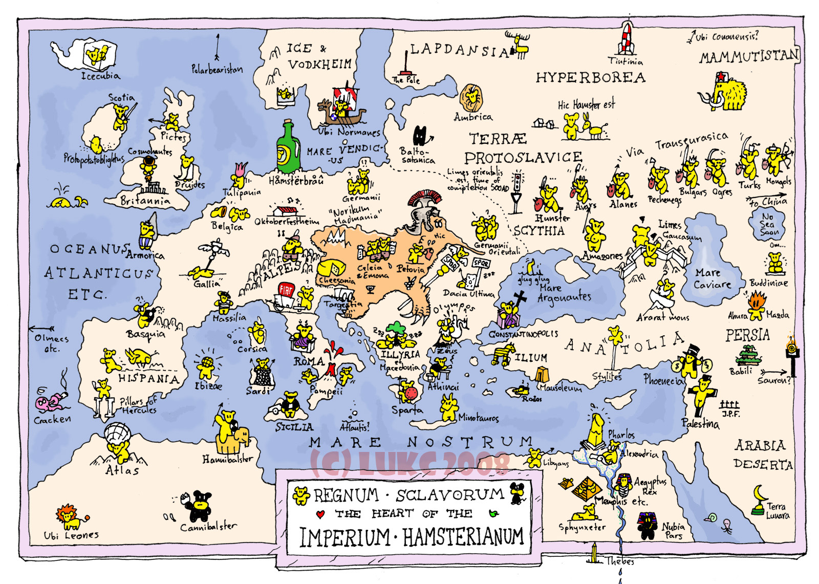 A little joke map featuring little yellow hamsters and such.