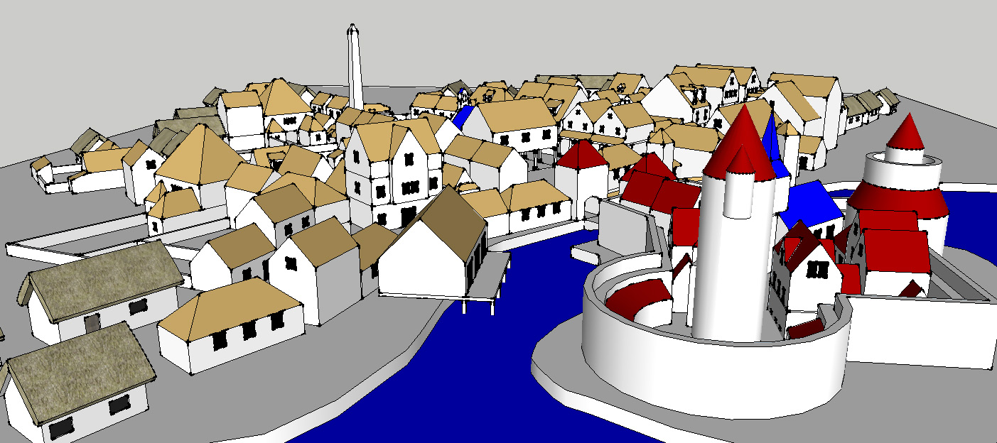 Woodbinde - Messing around with Sketchup a bit more to develop town/city maps.