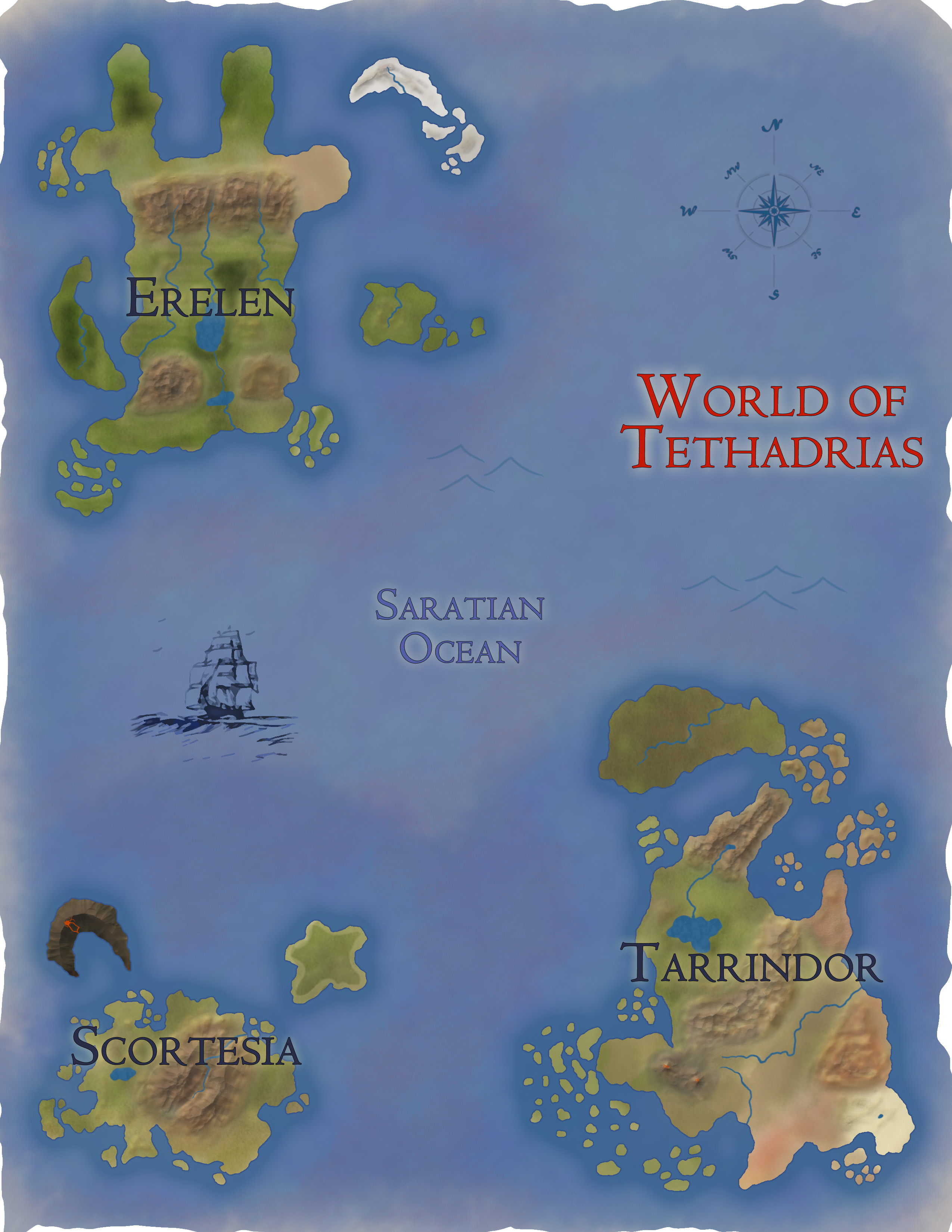 World Map of Tethadrias