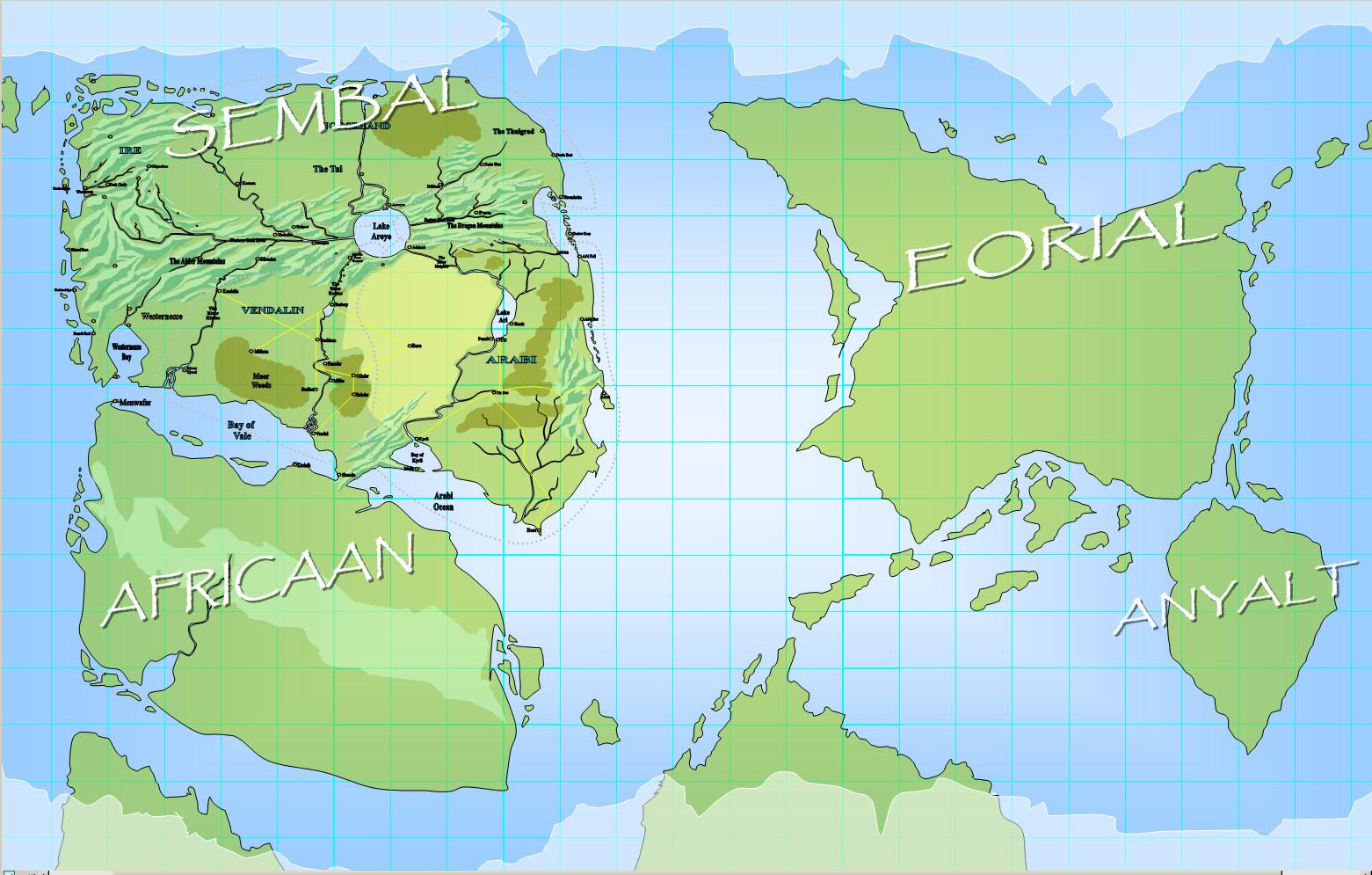 Angathal Continents