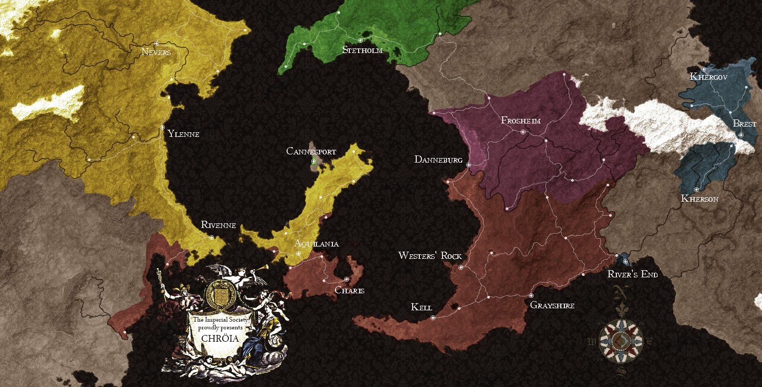 Chroeia Political Map