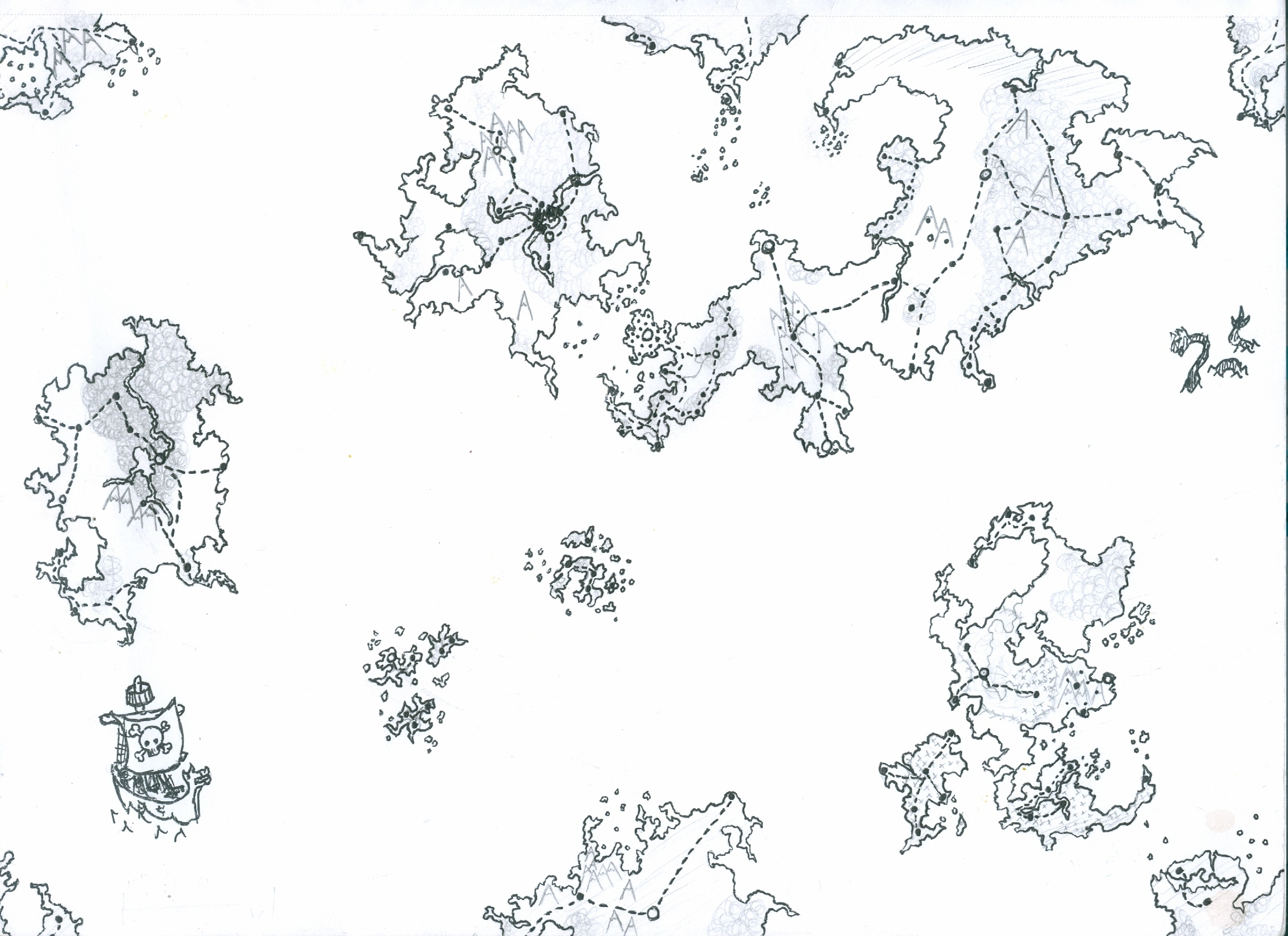 A map of the world Mythe. Second Map I've ever done. Has some history. Only this version available.