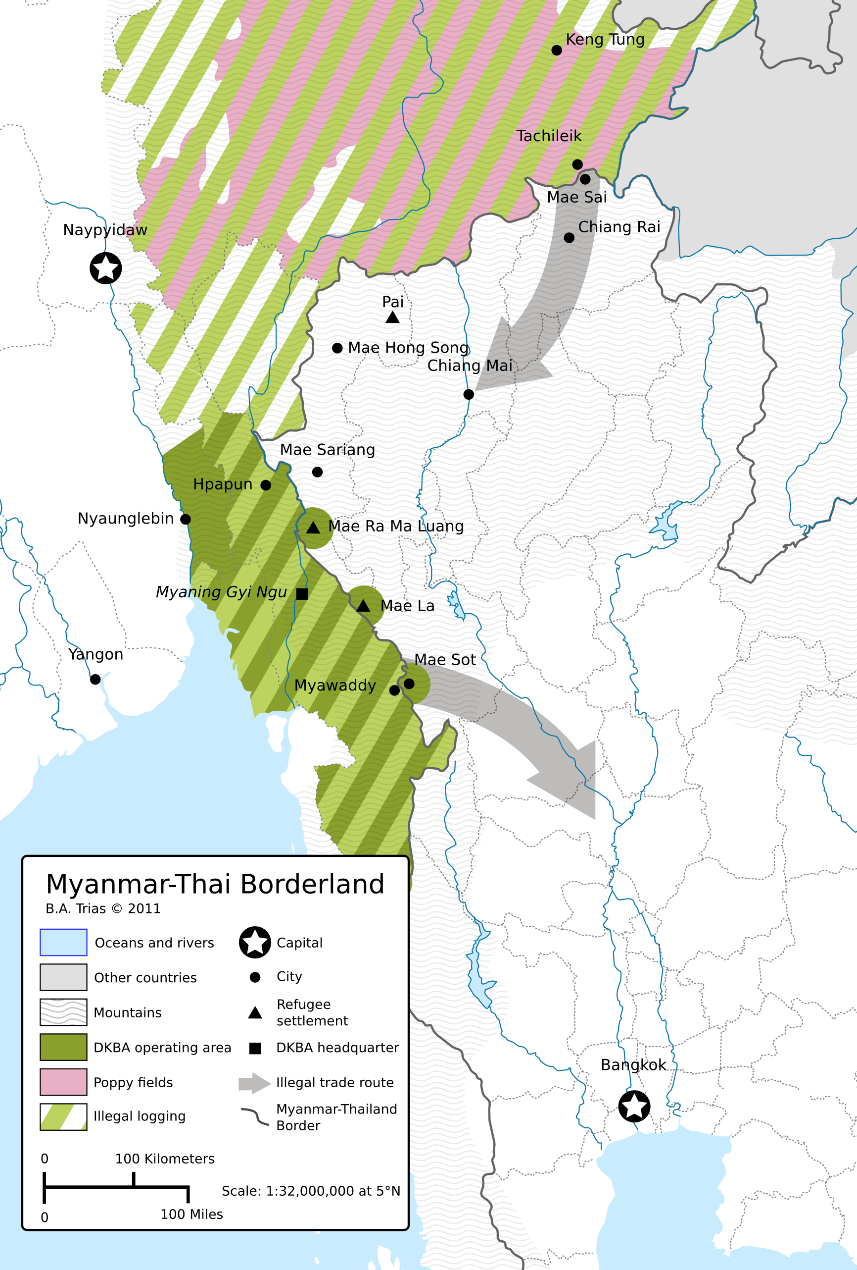 Myanmar Thai Borderland