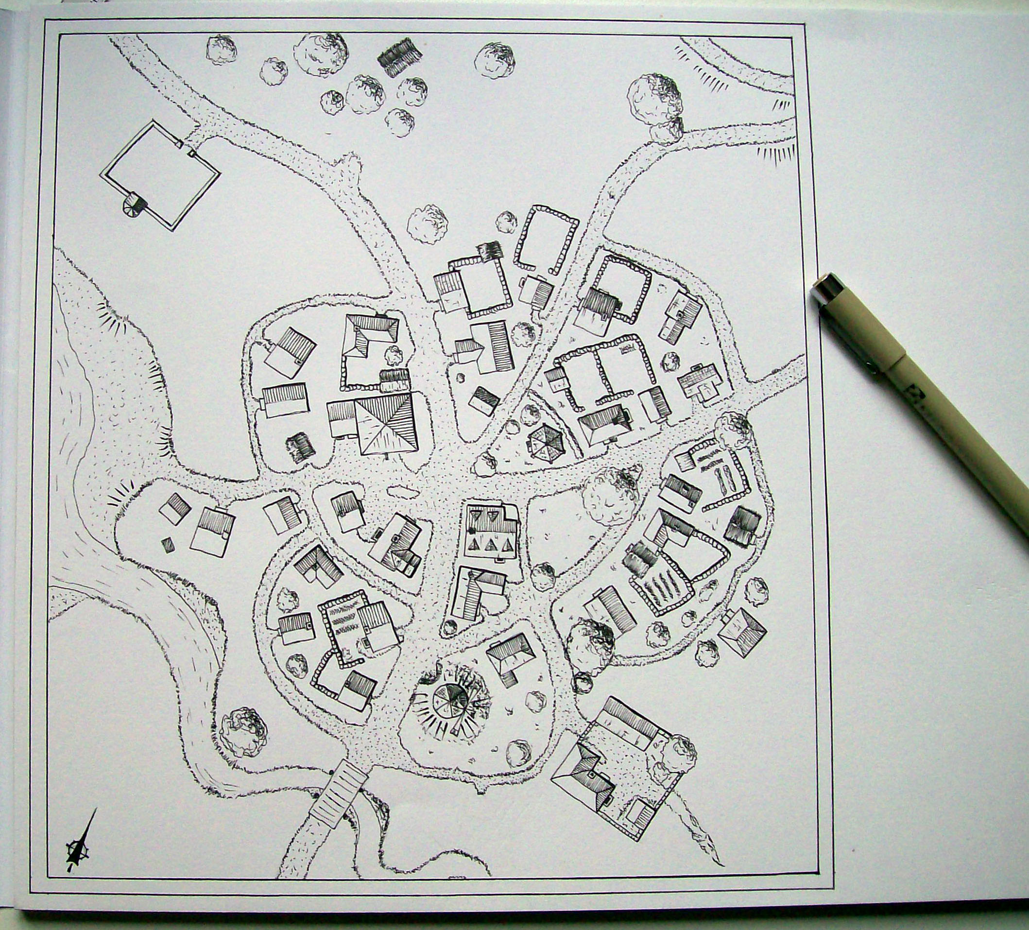 Small village map by Dwylaw