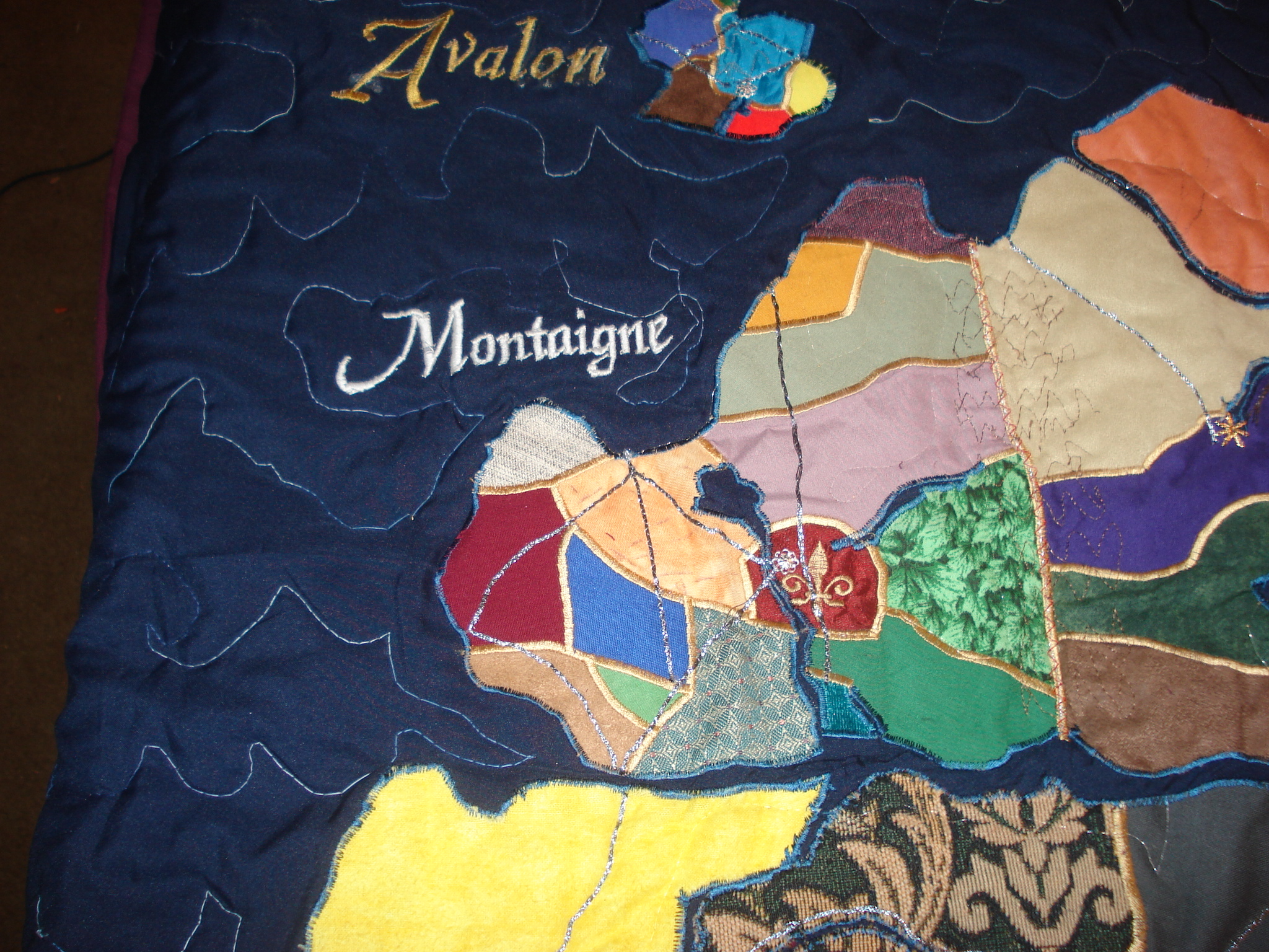Montaigne - France.  Came together well, but the river up the center made it flex a bit.