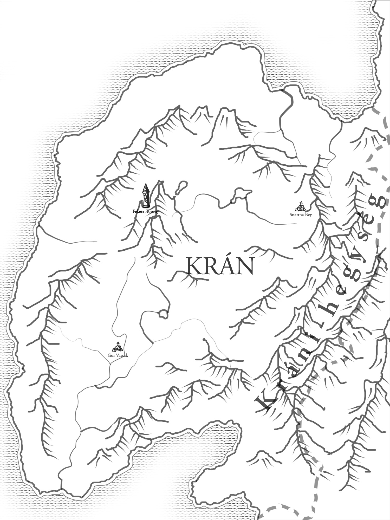 Ynev - Kran (Country Map)