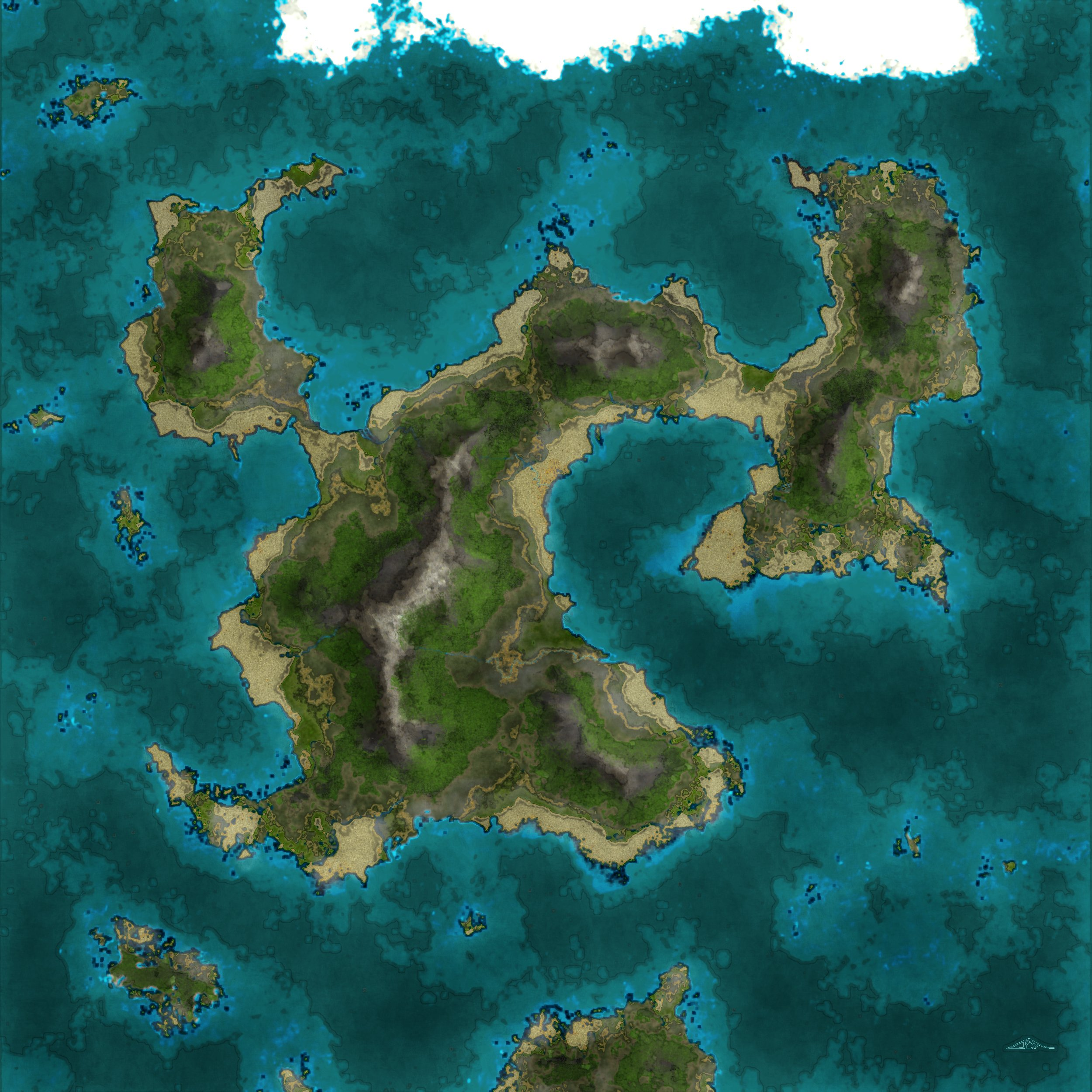 Grunge Islands - A style test