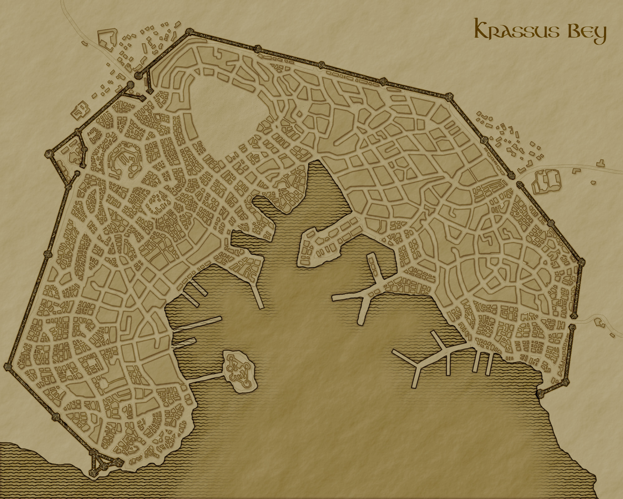Krassus Bey map