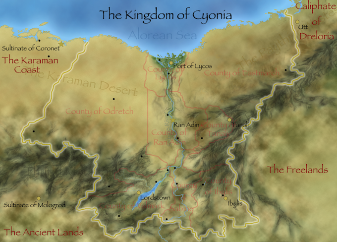 Cyonia Map smaller version