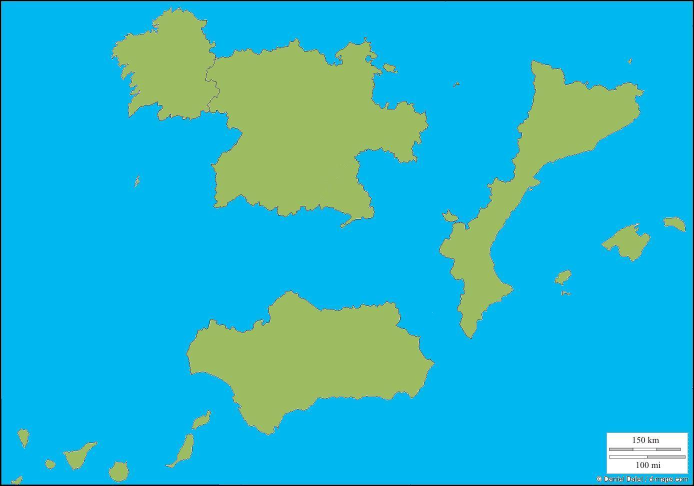 Spain 1: same concept using http://d-maps.com/ but with areas of Spain instead of Switzerland. This could easily be a complete world map.