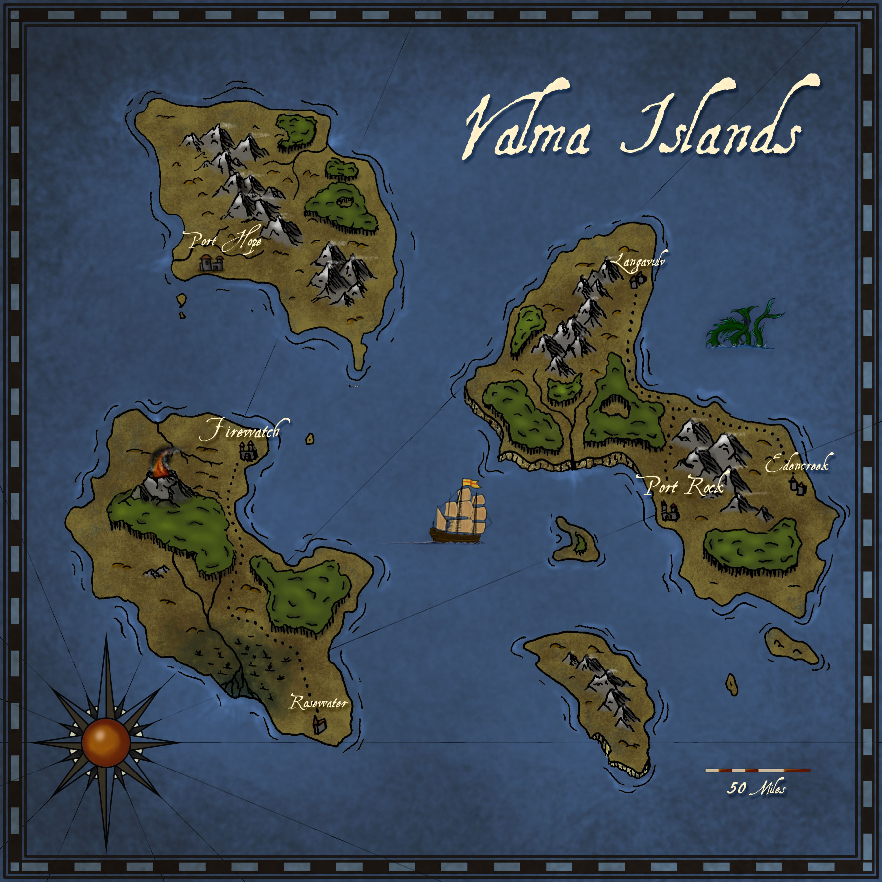 Valma Islands. challenge entry