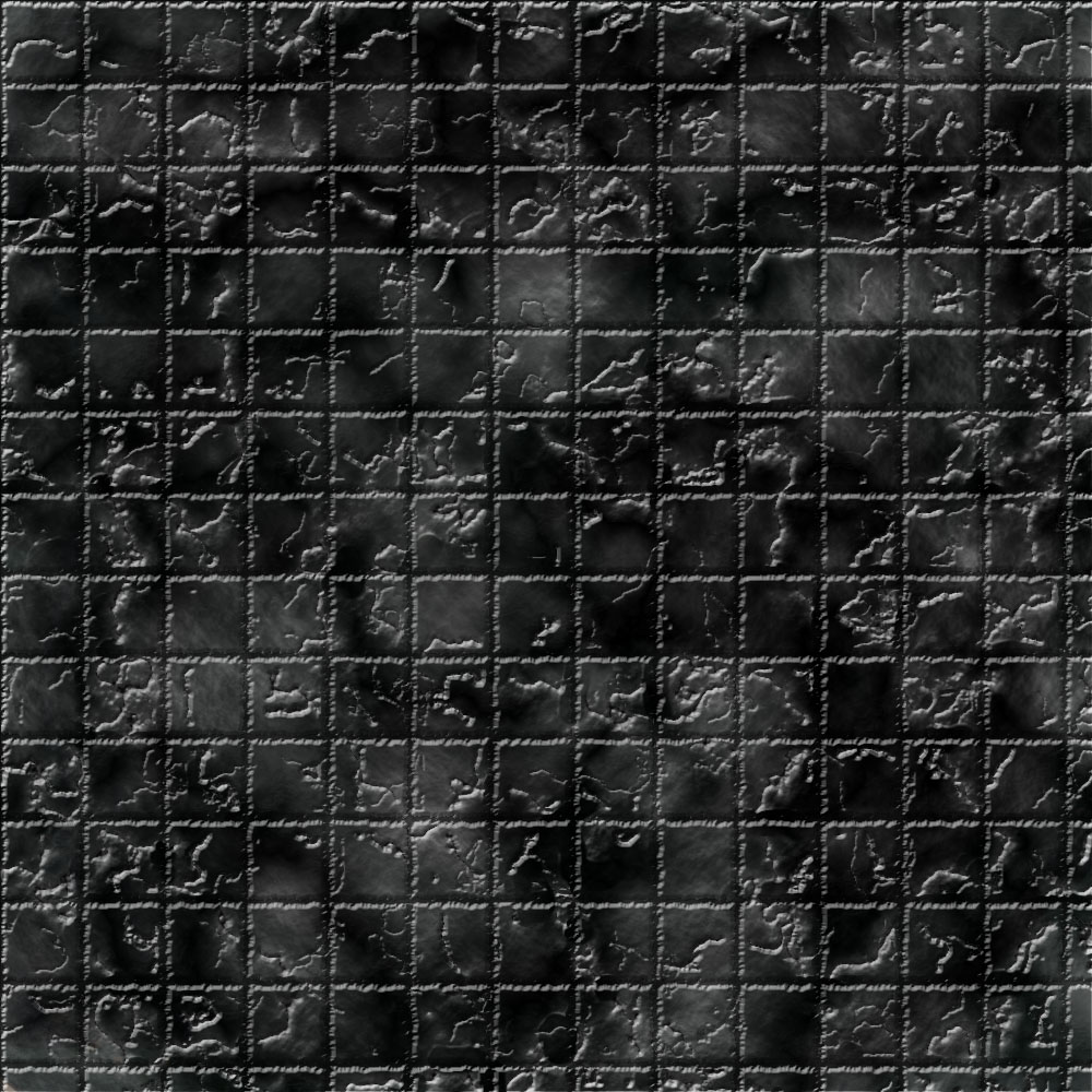 1k by 1k Battle Grid Granite Cracked Tiles
