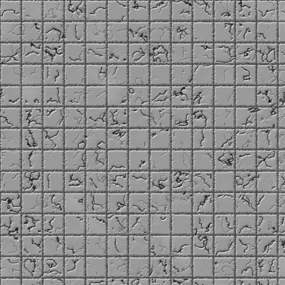 1k by 1k Battle Grid Gray Cracked Tiles