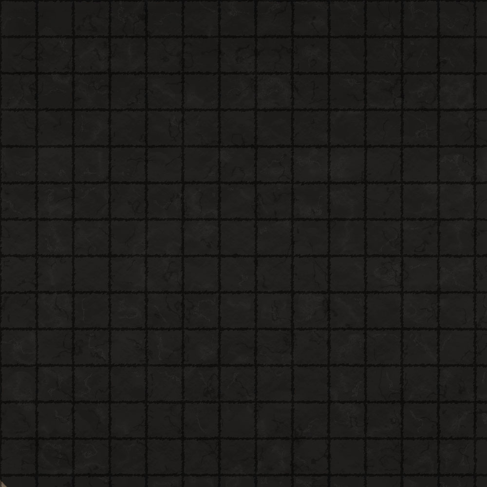 1k by 1k Battle Grid Polished Black Slate Tiles