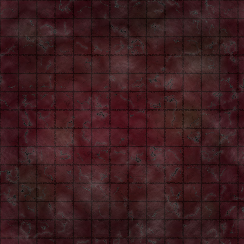 1k by 1k Battle Grid Red Cracked Marble Tiles