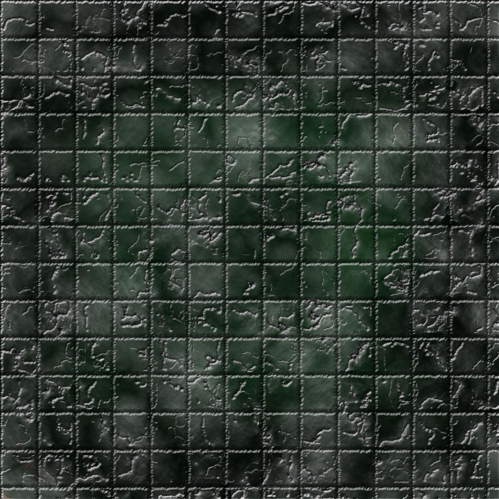 1k by 1k Battle Grid Slimy Cracked Tiles