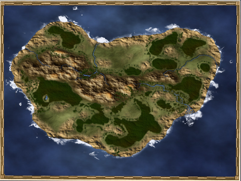 Island with frame