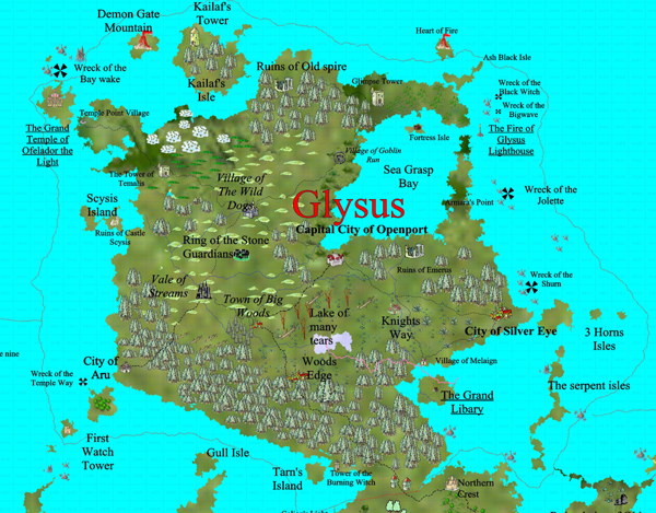 Glysus 600res The Starting map of my world.