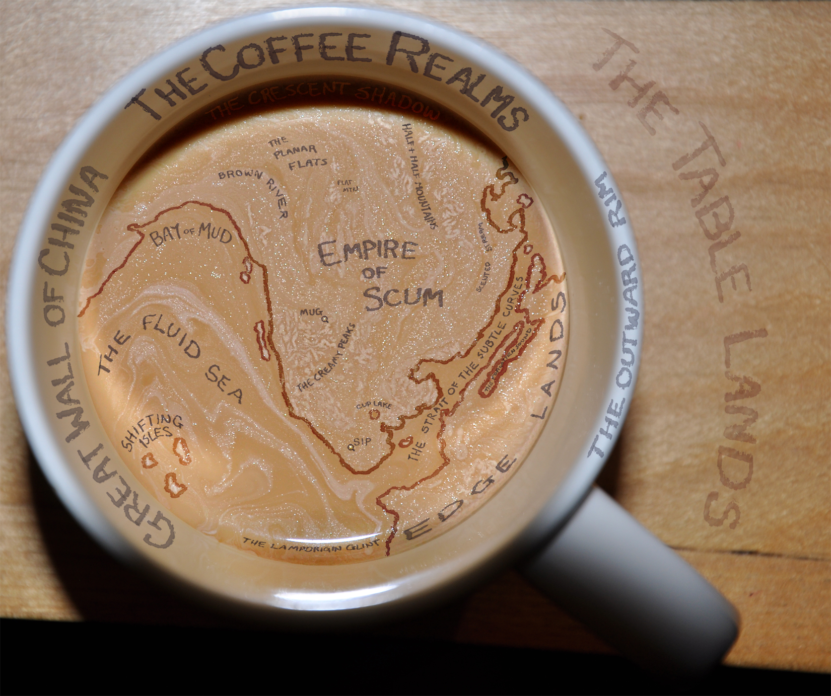 The Coffee Realms humorous map - all rights reserved.