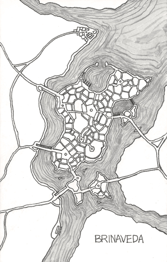 Brinaveda city map - all rights reserved.