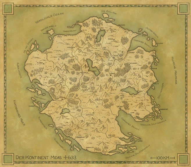 Der Kontinent Midas regional map commission - all rights reserved.