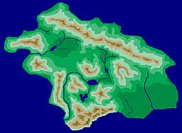 A small continent about the size of Borneo.