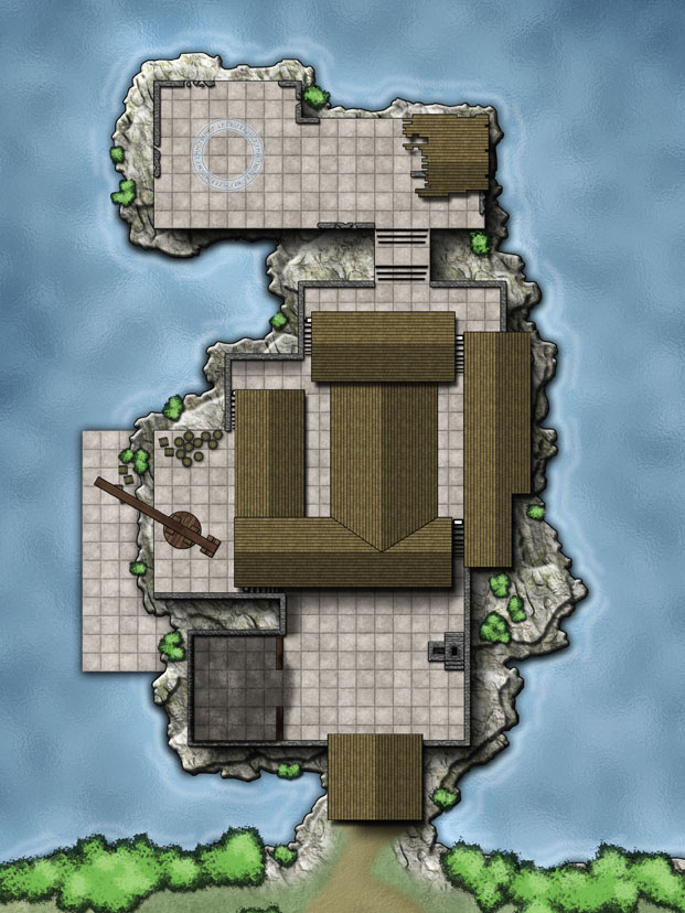 Fangcrag Keep Level 1 Player Map