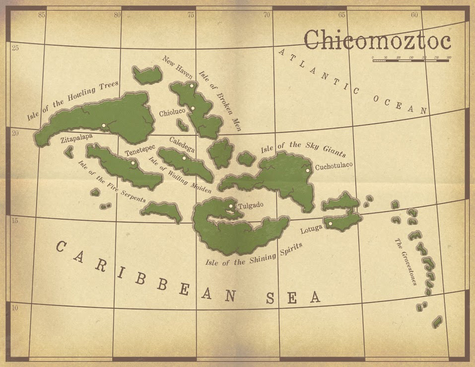 The lost lands of Chicomoztoc. This was to be used in a pulp Savage Worlds game that never got off the ground.