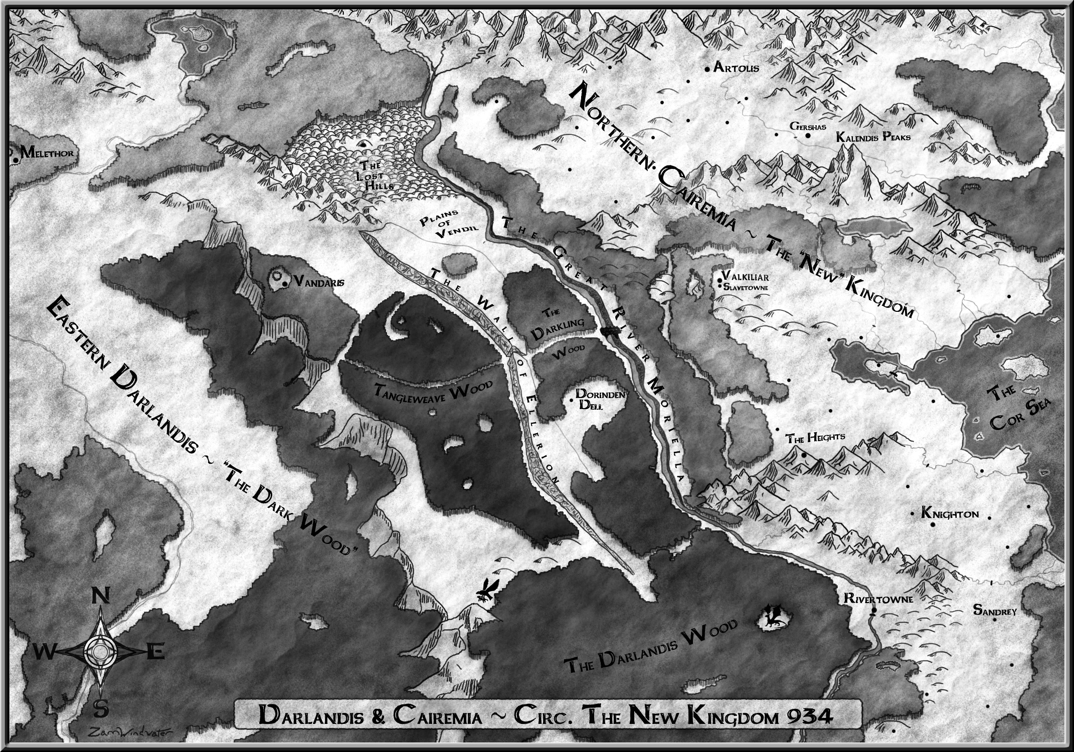 Map Finished grayscale