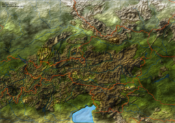 Mapname: Austria 2  Programms used: Gimp  2nd run on the Austria 1 Map, better definition of the relief