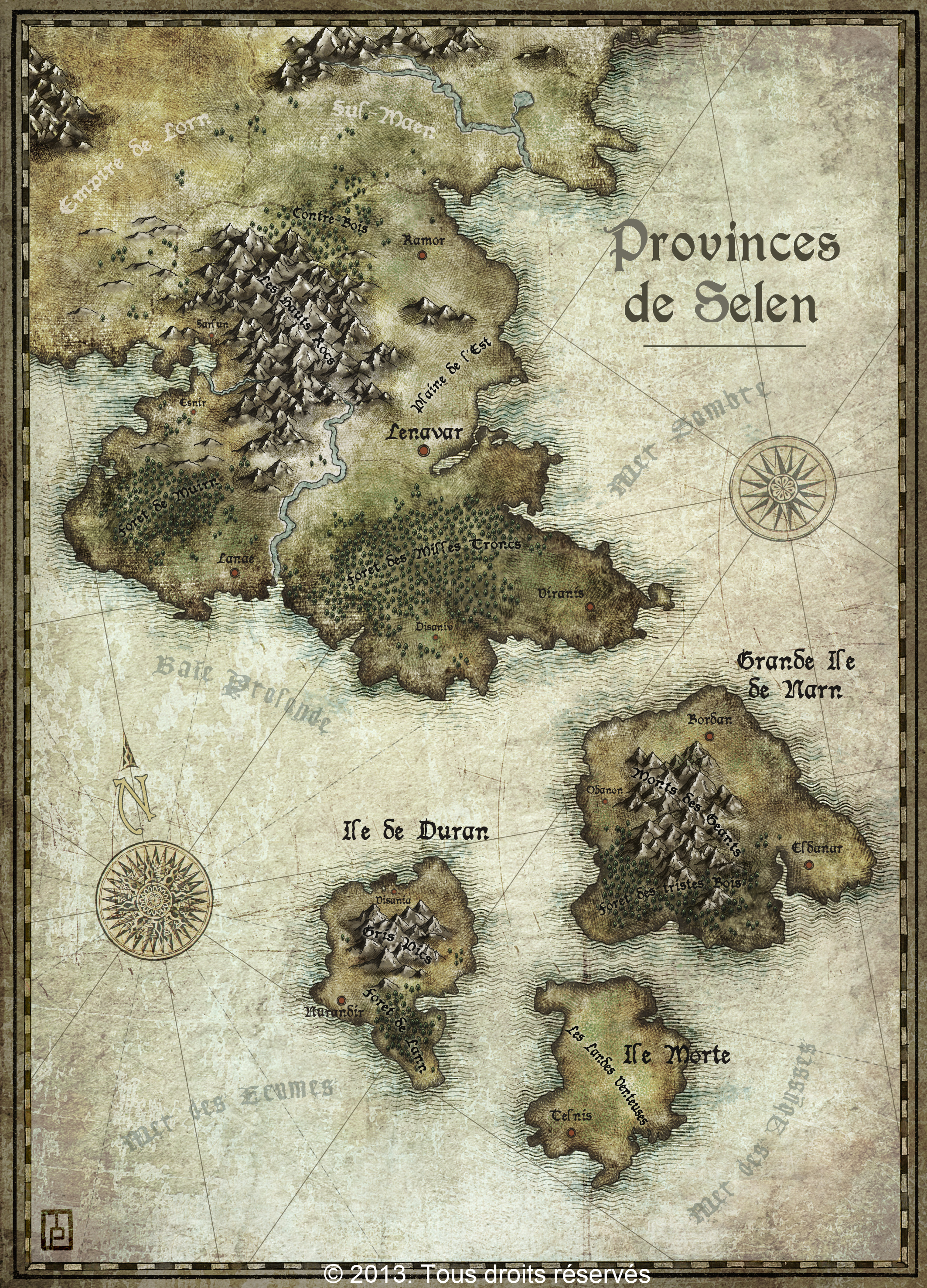 Provinces of Selen - personnal project - Nominated for Featured map April 2013