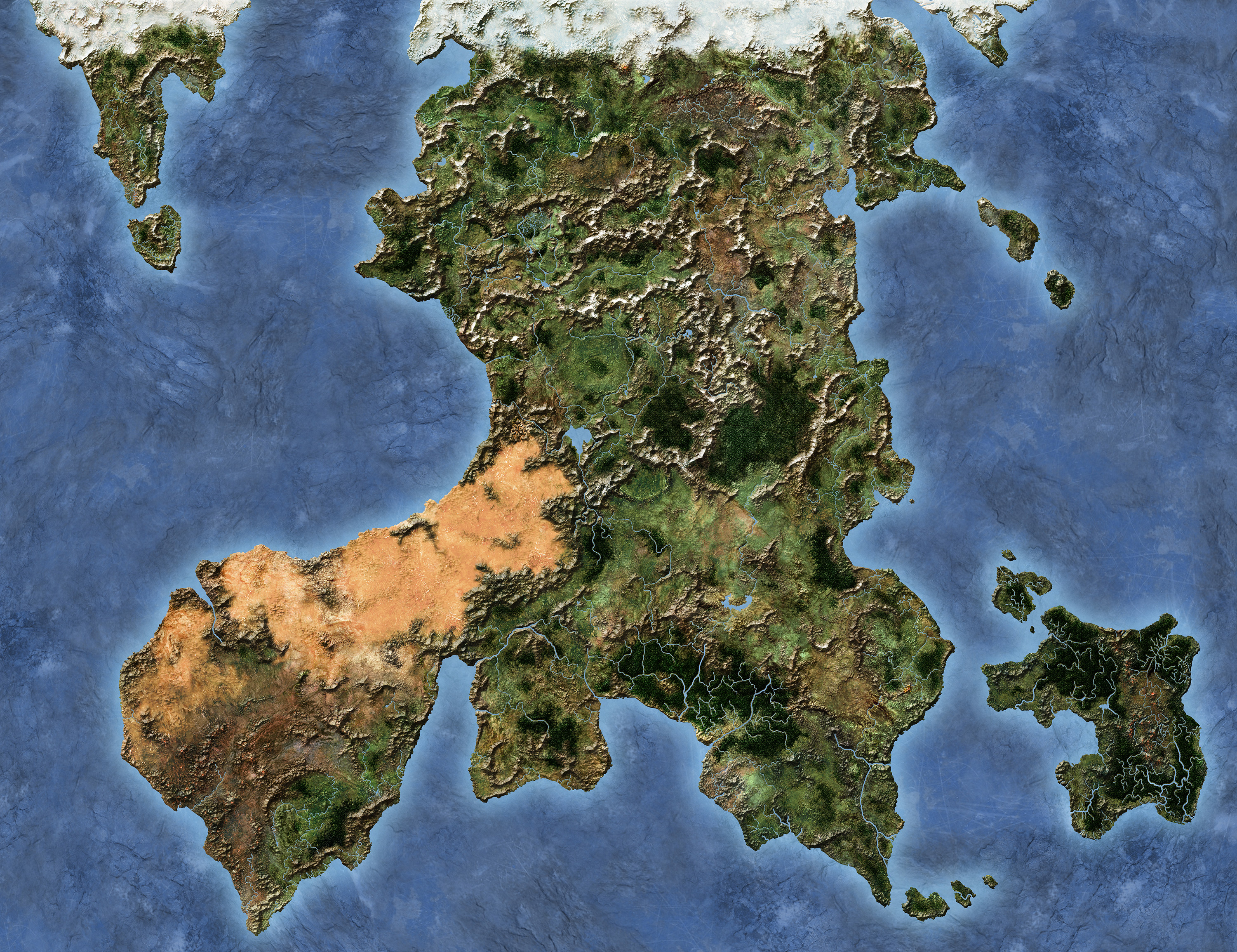 Hylia World Map.
