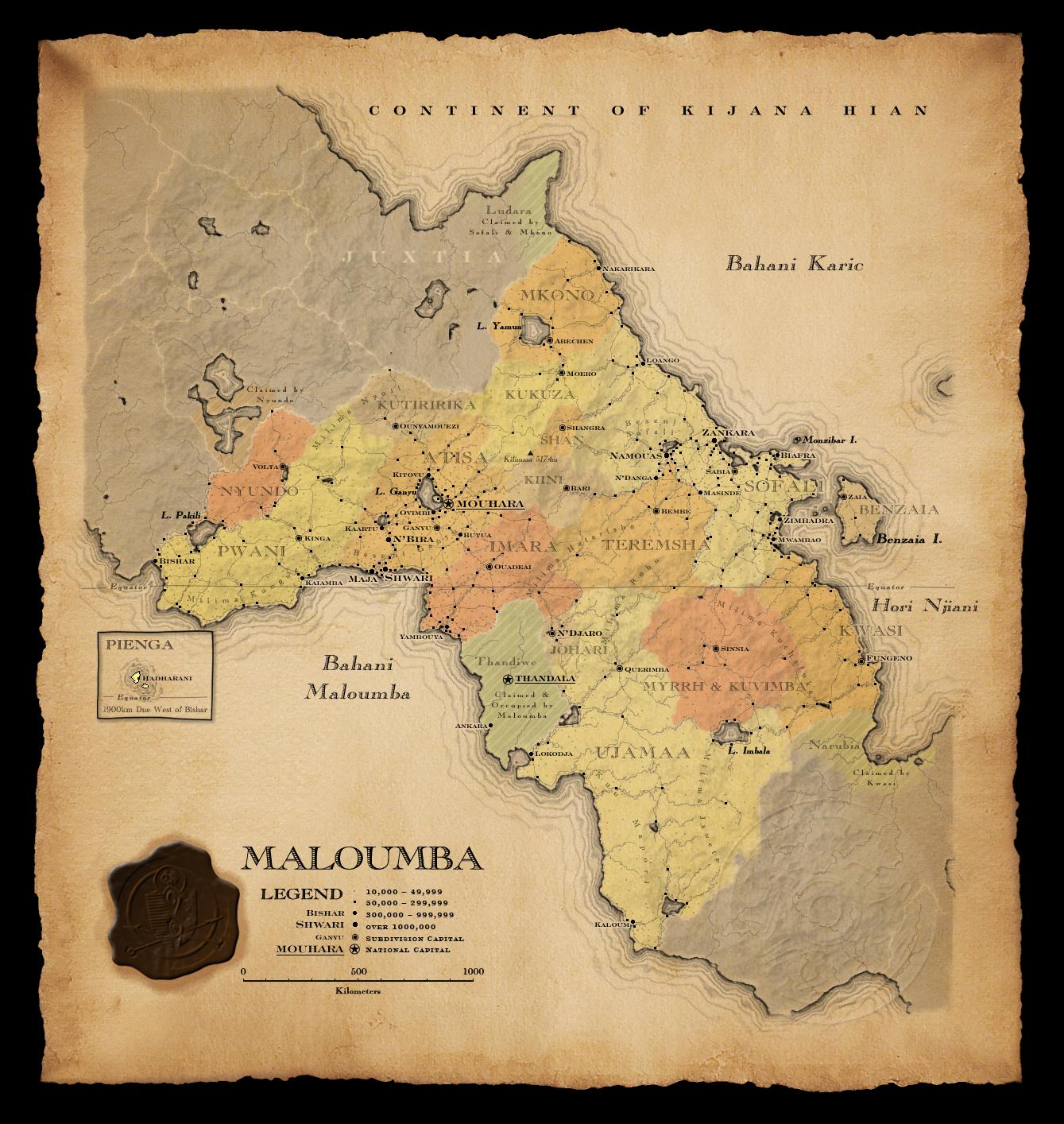 maloumba map parchment