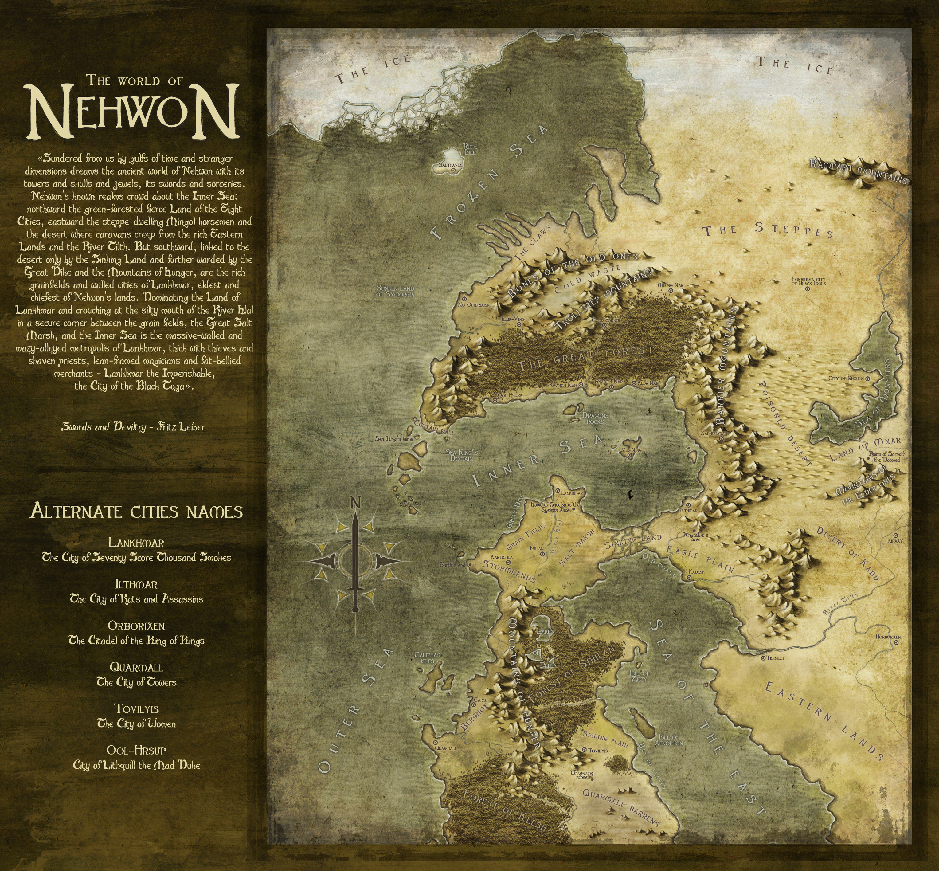 Nehwon - Entry for  July 2013 CG challenge -Map the novel- 1st place.