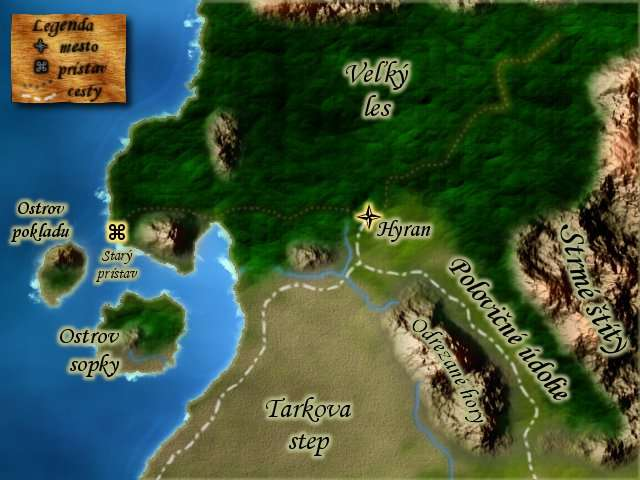 hyran. small area map as background for a roleplaying game (not pc)