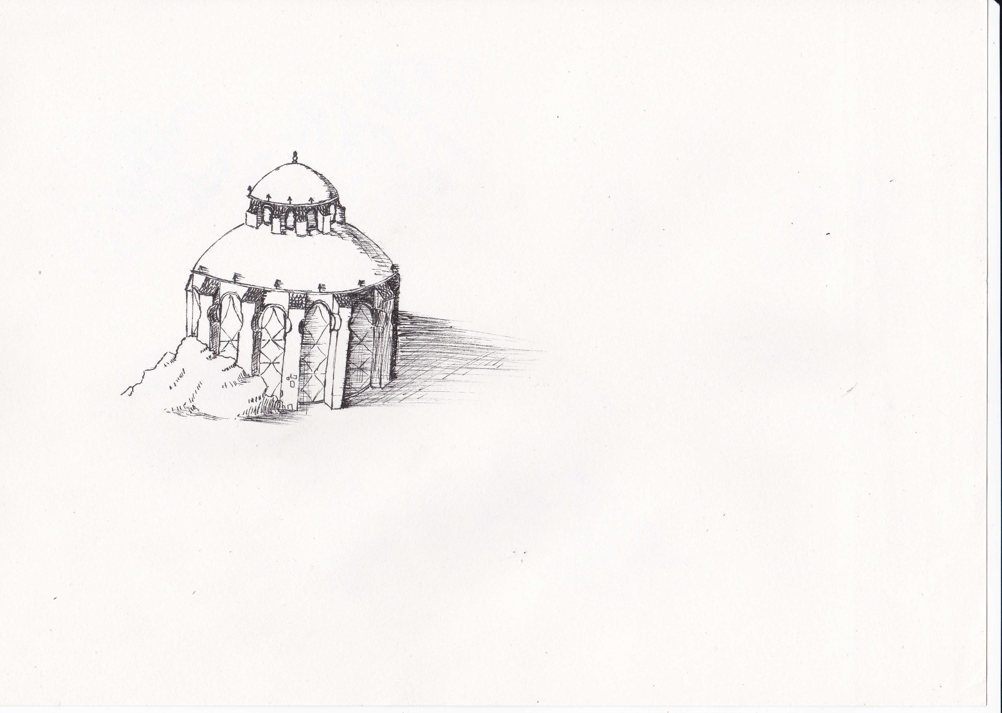 A temple I drew a couple of days ago