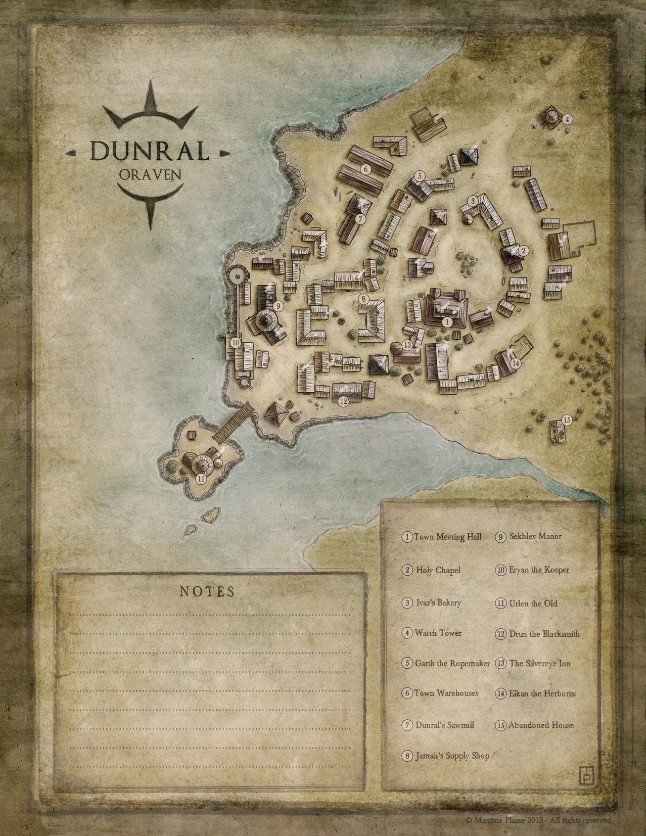 Oraven - Village of Dunral - personnal work.