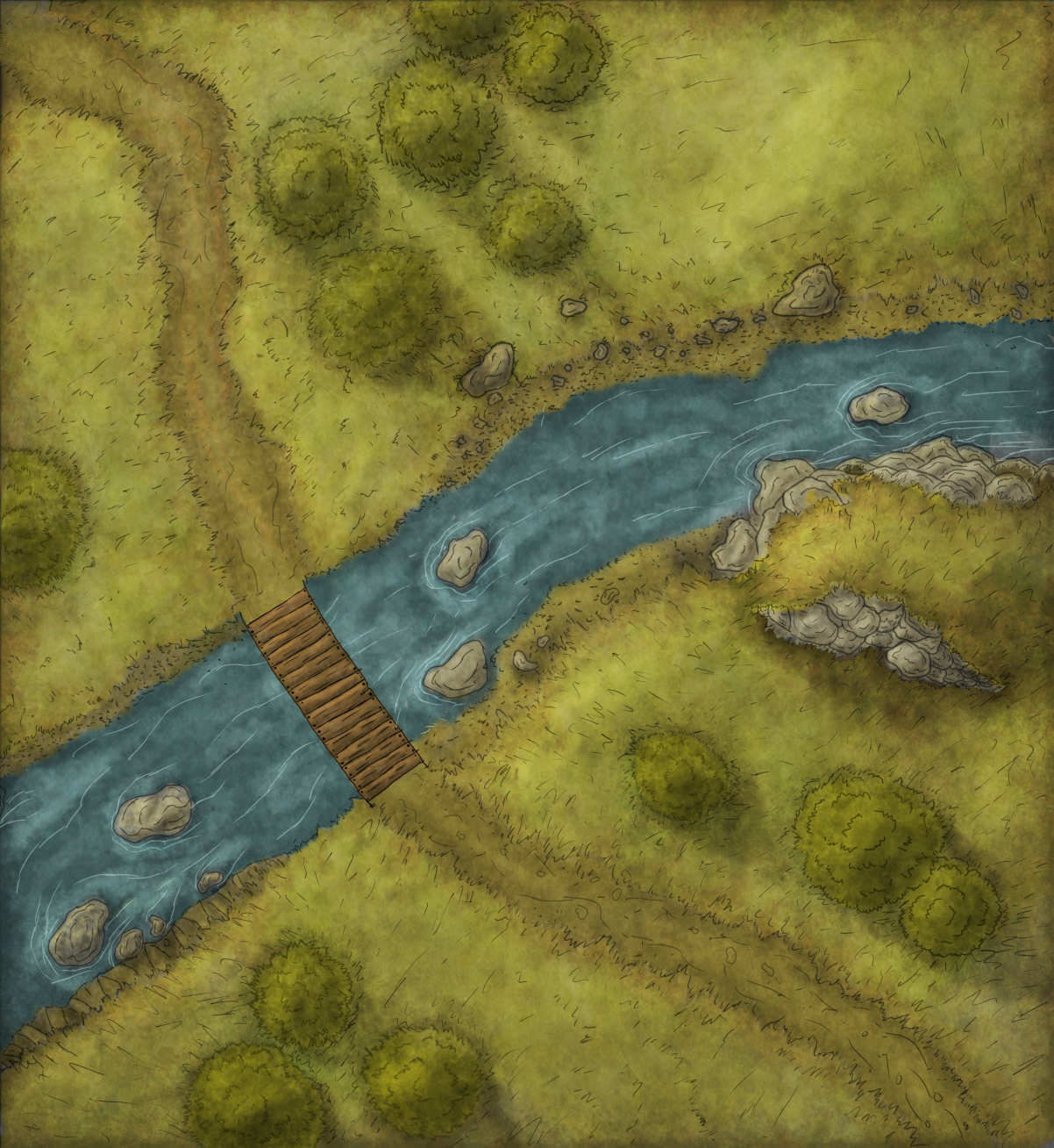 River Crossing Encounter map
