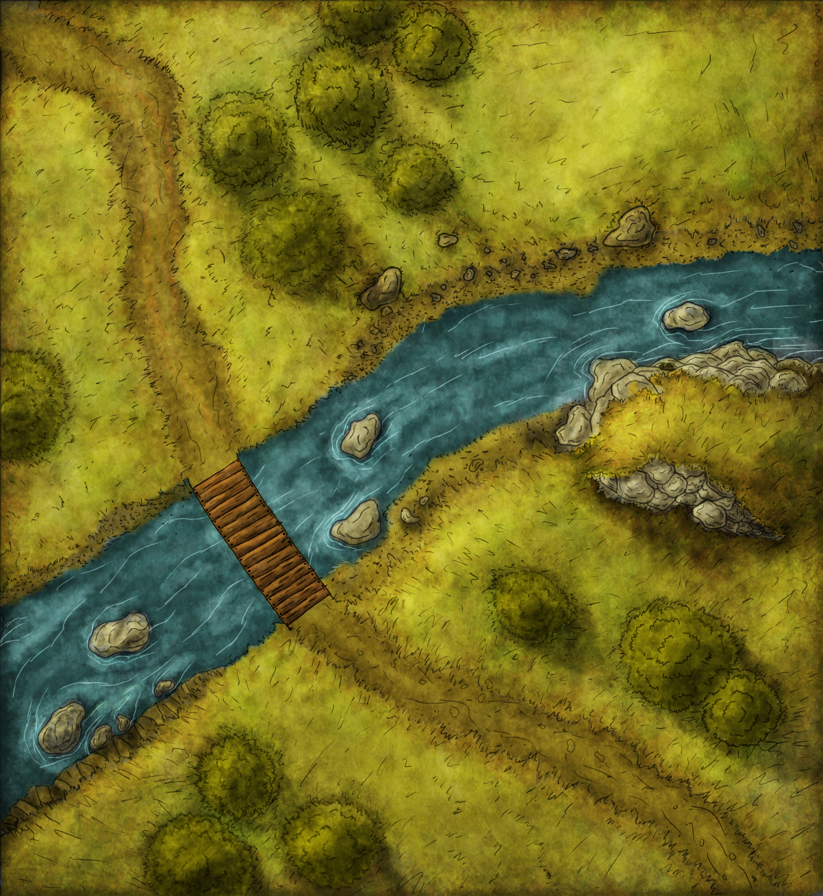 River Crossing Encounter map alternate provided by geamon