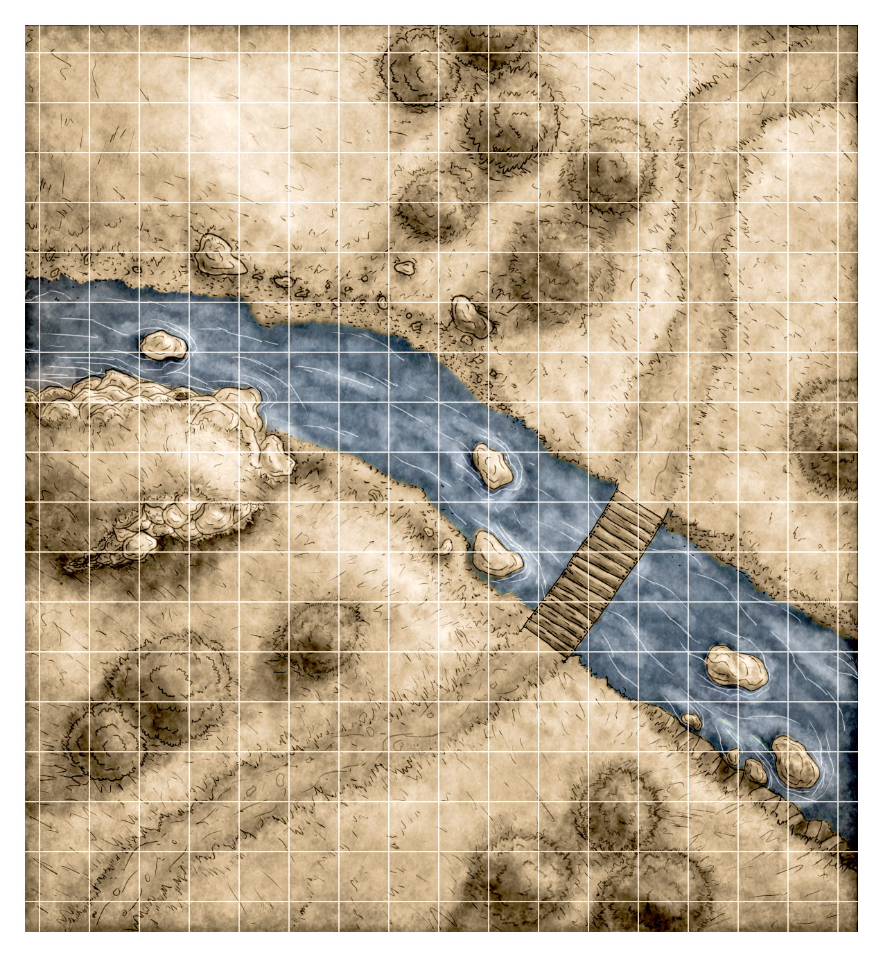 River Crossing Encounter map alternate provided by Lukc