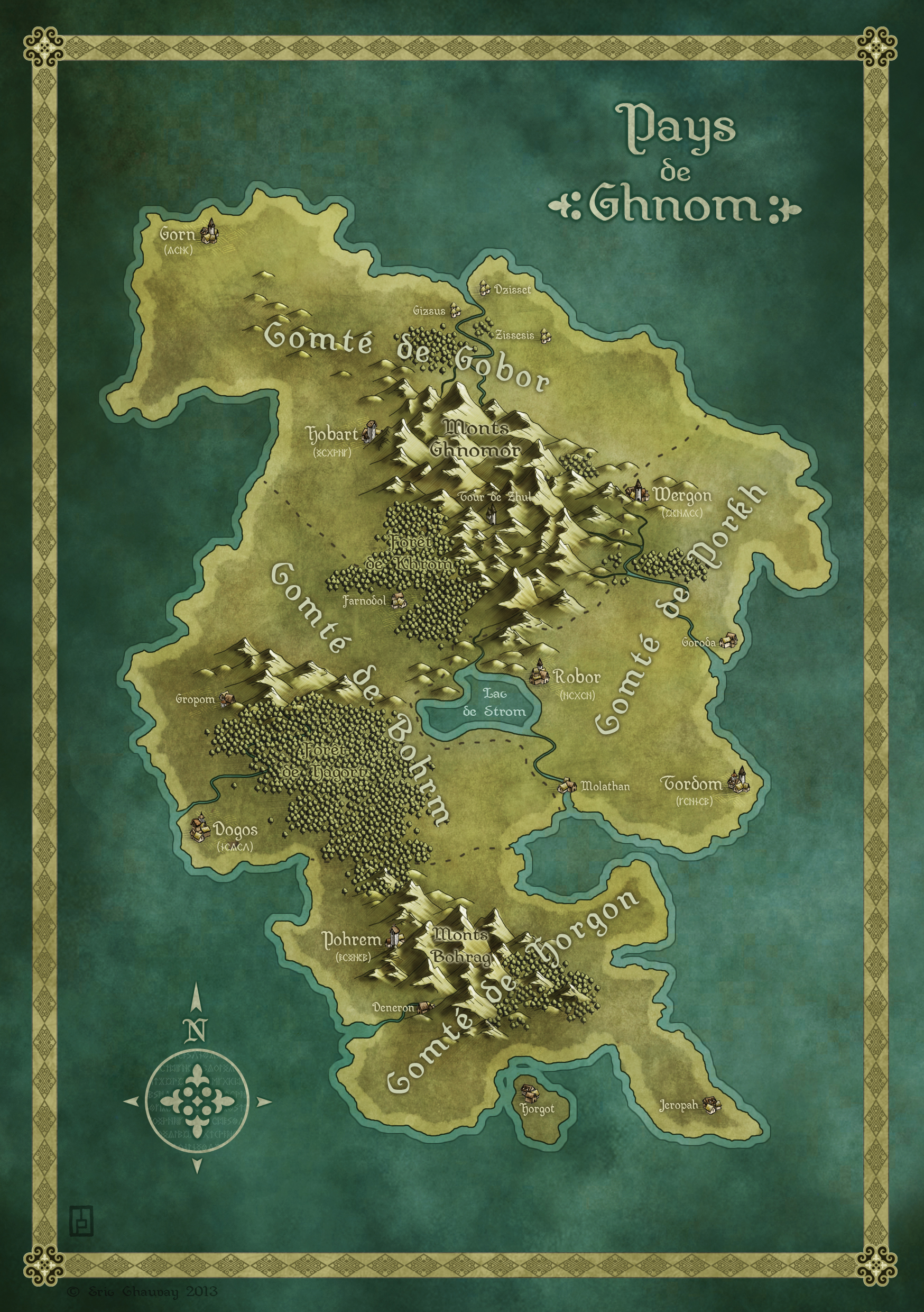 Land of Ghnom - Book project commission